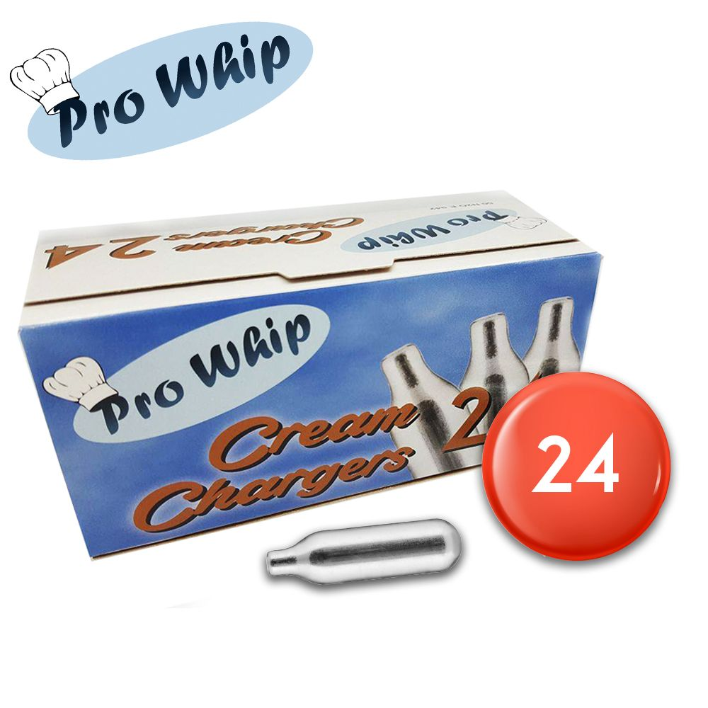 24 Pro Whip Cream Chargers Nitrous Oxide Whipped Cream