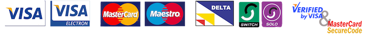 Accepted Payment Cards: Visa, Mastercard, Maestro, Delta, Switch, Solo,
