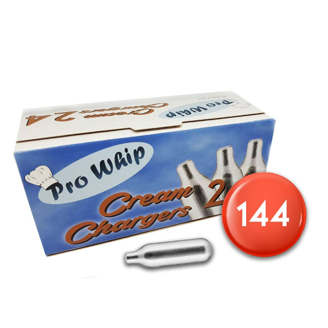 Pro Whip Cream Chargers 144 Pack