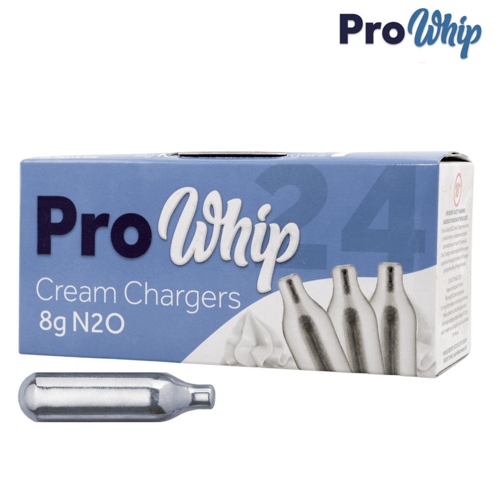 24 Pro Whip Cream Chargers - Nitrous Oxide Whipped Cream Chargers